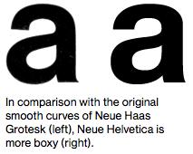 Neue Haas Grotesk vs Neue Helvetica.