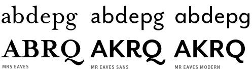 mr+mrs eaves Schriftmuster von FontShop